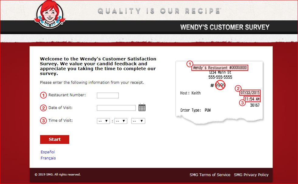 Wendy's Survey Home Page