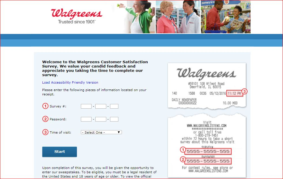 Walgreens Customer Experience Survey