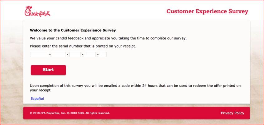 CFA Customer Visit Survey