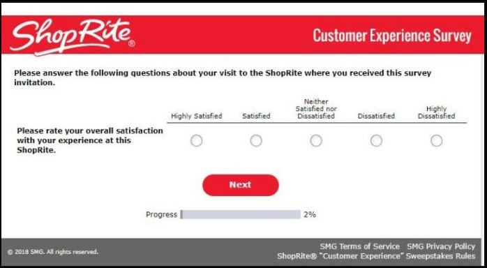 ShopRite Customer Survey Representative