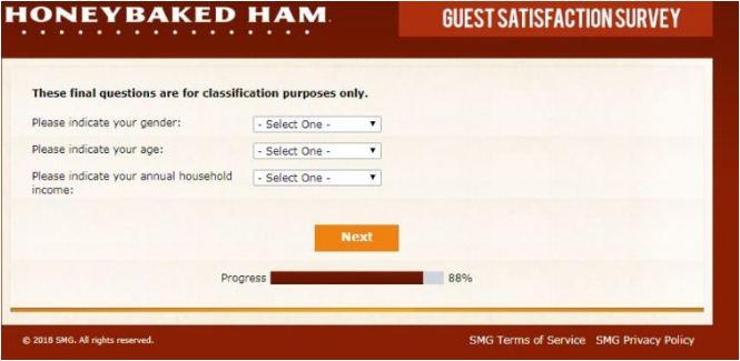 Honey Baked Ham Rewards Survey