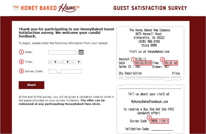 Honeybaked Survey