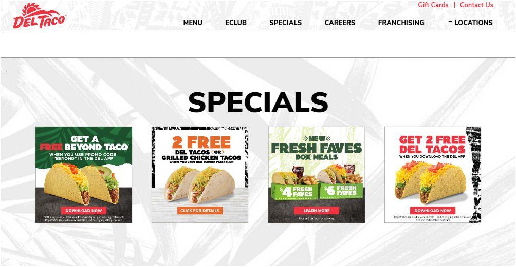 Del Taco Specials