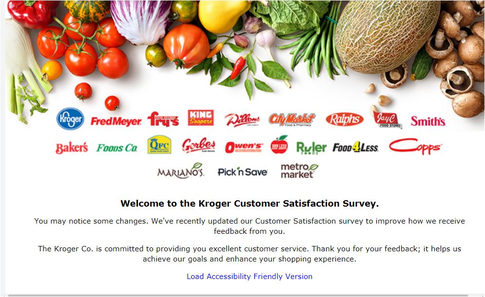 Krogers Survey Steps