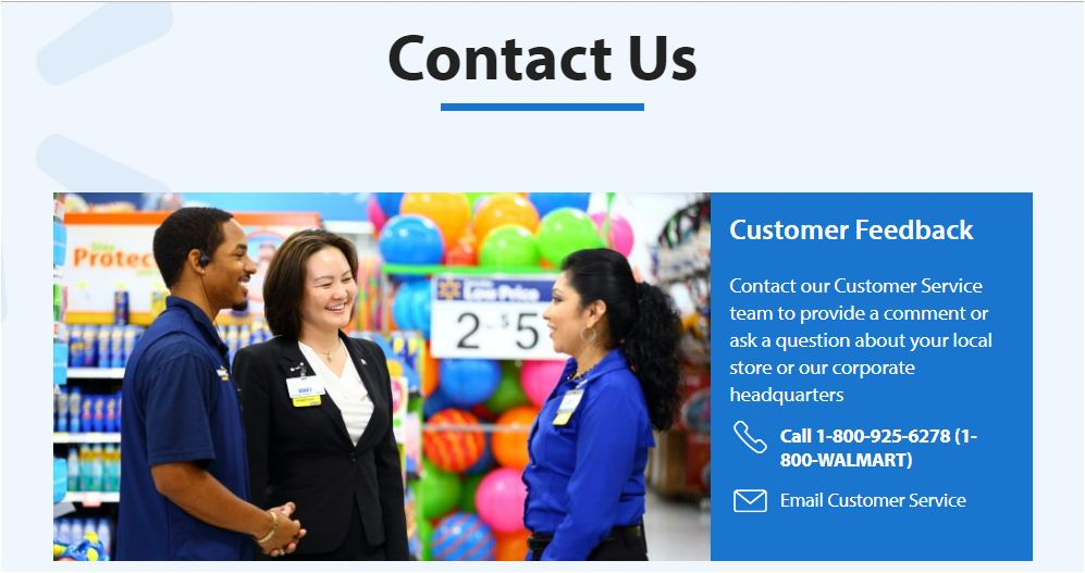 Wallmart Contact Us 2