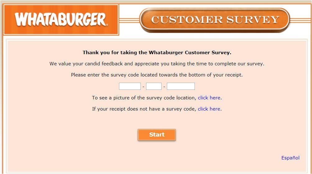 WhataBurger Survey Steps