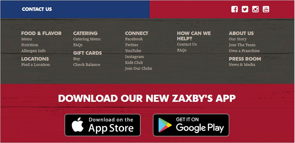 Zaxby's Contact us