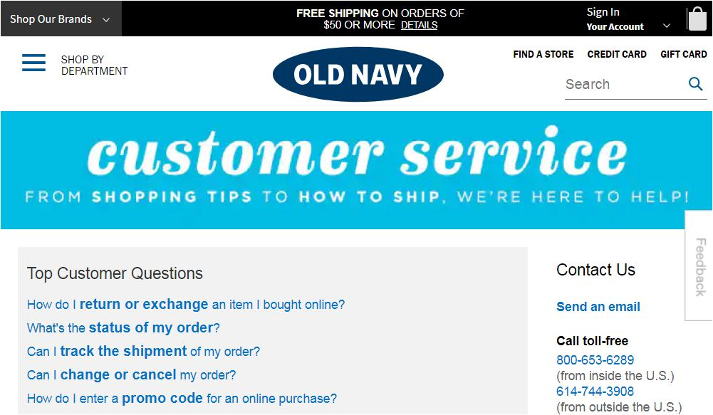 Old Navy Customer Care
