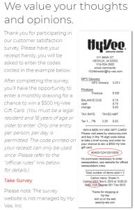 hy vee survey