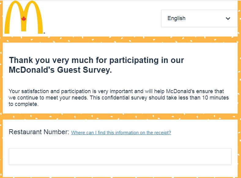 mcdonalds survey canada