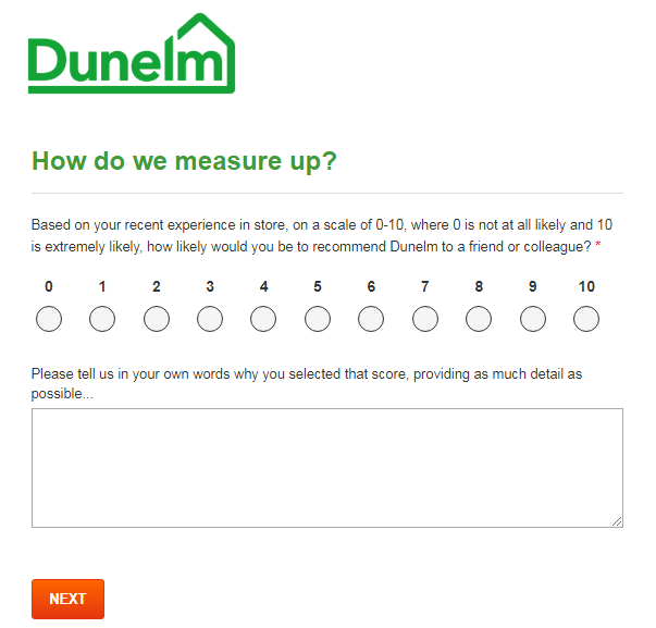 dunelm survey homepage