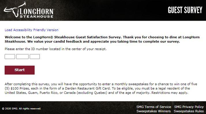 Long Horn Steakhouse Survey