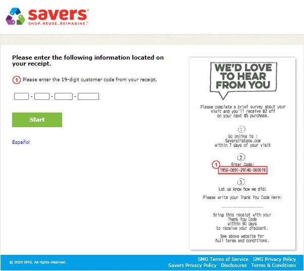 Savers Survey