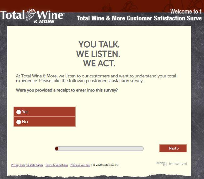 Total Wine & More Survey