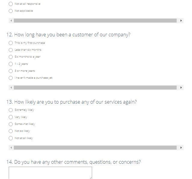 Emasr Customer Opinion Survey