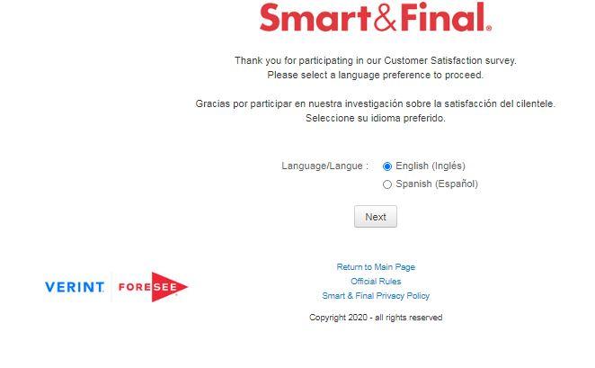 Smart $ Final Survey