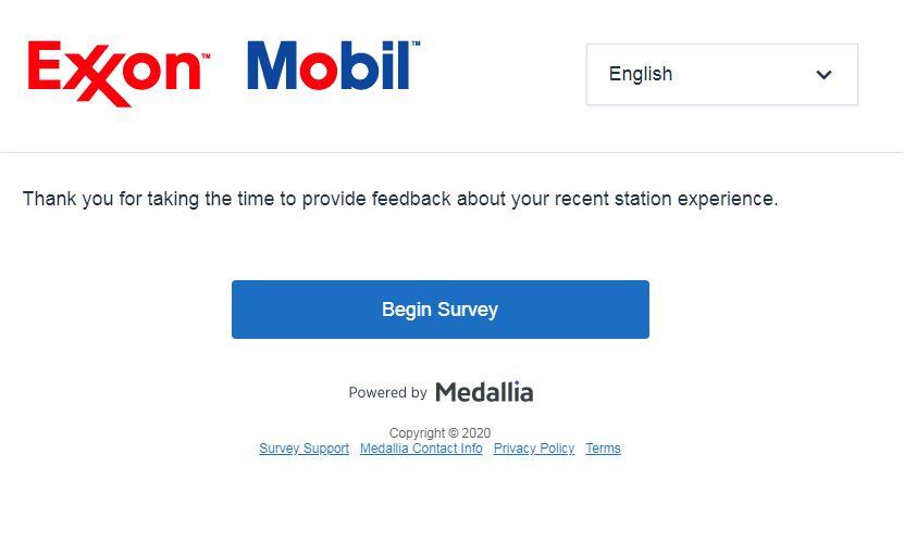 Exxon Mobil Survey