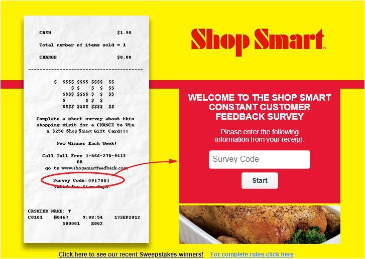 Shop Smart Feedback Survey
