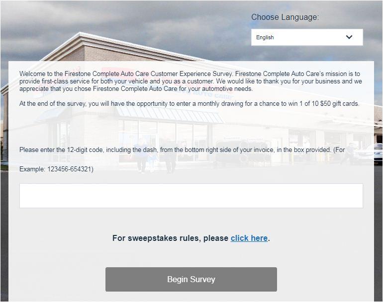Firestone Customer Service Survey