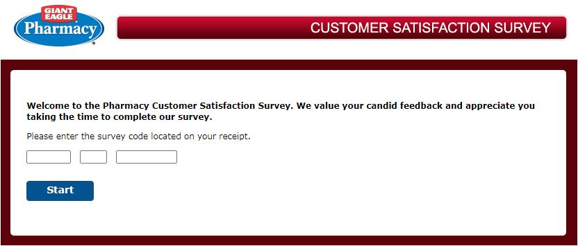 Giant Eagle Pharmacy Survey