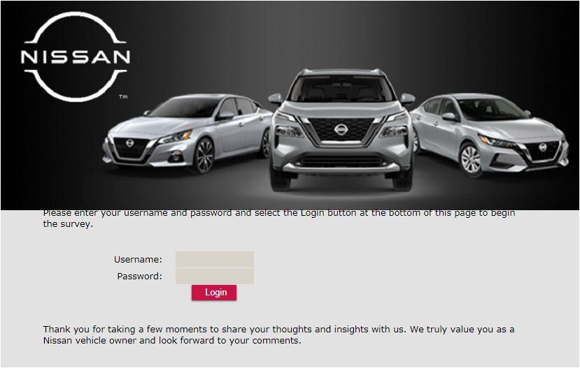 Nissan Online Survey